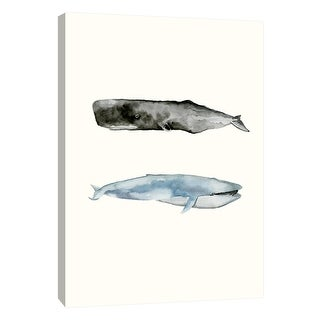 """PTM Images 9-108717  PTM Canvas Collection 10"""" x 8"""" - """"Whale Grouping 2"""" Giclee Whales Art Print on Canvas"""