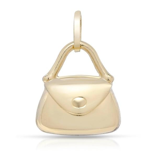 Mcs Jewelry Inc 14 KARAT YELLOW GOLD ELEGANT PURSE PENDANT (Charm)