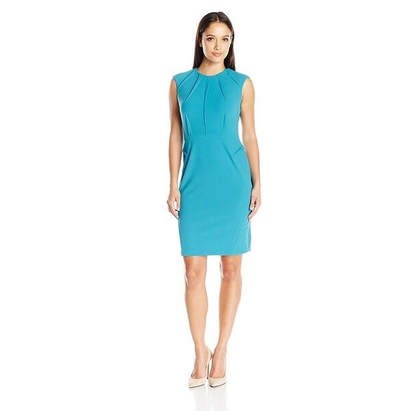 Calvin Klein Petite Pleated Sheath Cocktail Dress - 12P