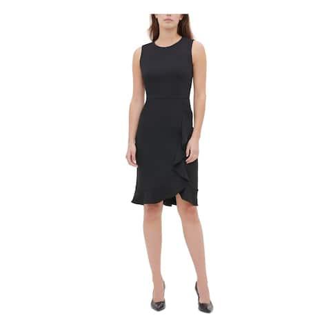 CALVIN KLEIN Black Sleeveless Above The Knee Dress 6