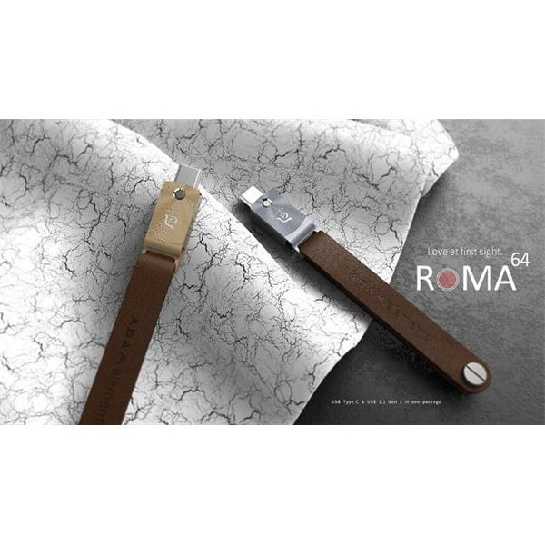 Pre-order ROMA USB Type-C OTG Flash Drive, Gray - 64 GB