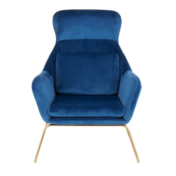 Silver Orchid Durieux Velvet Lounge Chair - N/A. Opens flyout.
