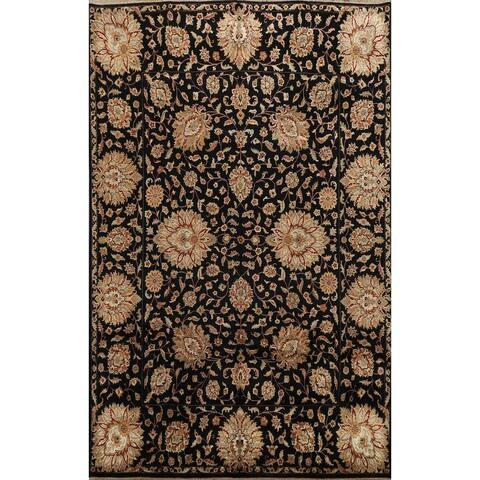 "Vegetable Dye Floral Traditional Agra Oriental Area Rug Wool Handmade - 7'10"" x 10'0"""