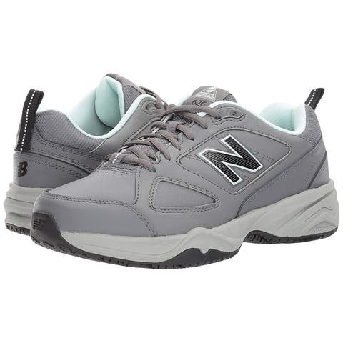 e2e6249e5 New Balance Womens WID626D2 Leather Low Top Lace Up Running Sneaker
