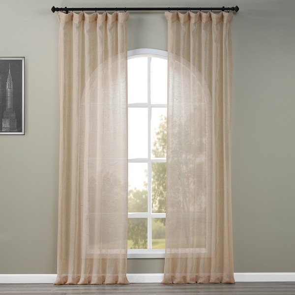 Exclusive Fabrics Open Weave Natural Curtain Panel. Opens flyout.