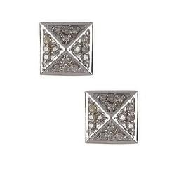 Genuine Diamonds Pyramid Stud Earring, Diamond Stud Earrings, Pyramid Earrings