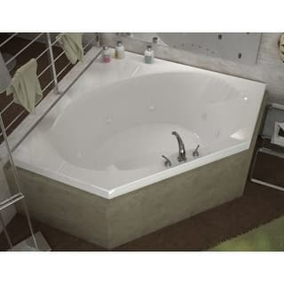 whirlpool bathtub. Avano AV6060EWL Bonaire 60  Acrylic Whirlpool Bathtub for Drop In Installations with Center Drain Jetted Tubs For Less Overstock com