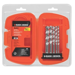 Black & Decker 16748 5-Piece Bullet Speed Tip Masonry Drill Bit Set