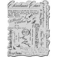 """Christmas Background - Stampendous Christmas Cling Rubber Stamp 4""""X6"""" Sheet"""