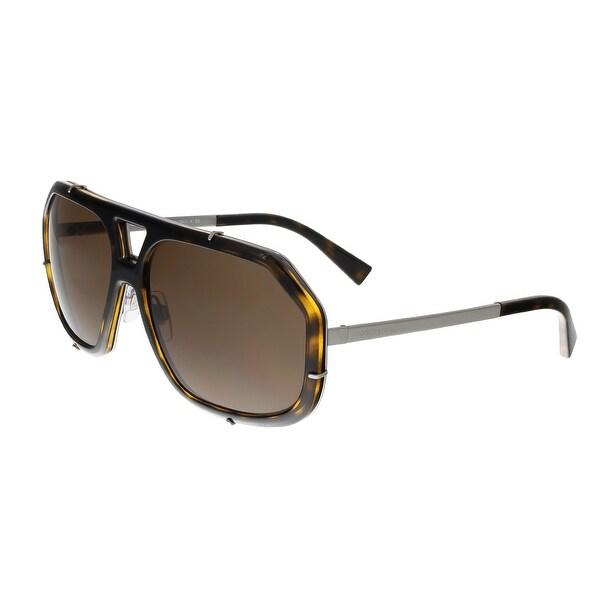 Dolce&Gabbana DG2167 04/73 Havana Aviator Sunglasses - 61-15-140