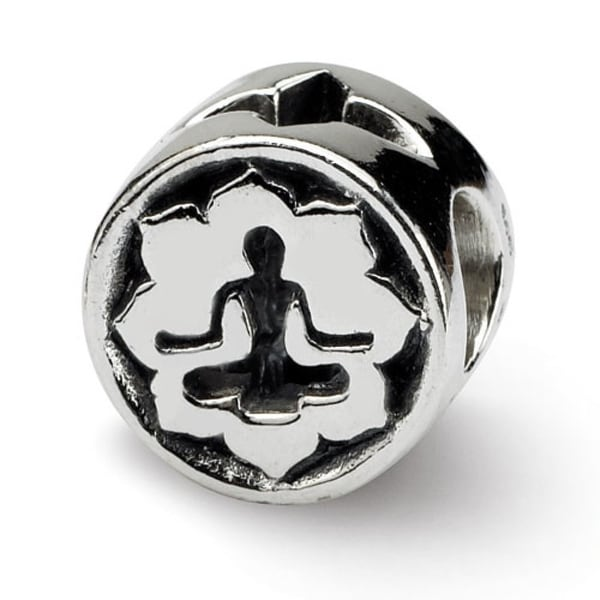 Sterling Silver Reflections Yoga Lotus Bead (4mm Diameter Hole)