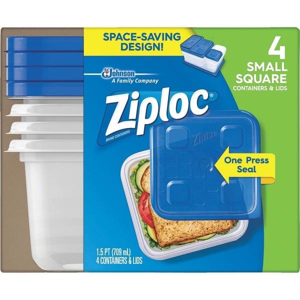 Ziploc 4 Pack Freezer Container