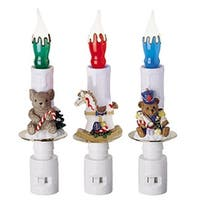 NorthLight Childrens Christmas Candle Night Lights - Pack Of 24