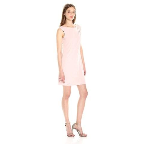 Jessica Simpson Asymmetrical Layered Faux Wrap Shift Dress Blush