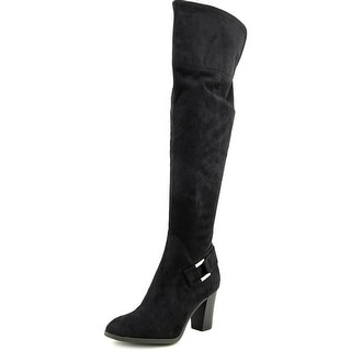 Marc Fisher Christyna Pointed Toe Canvas Over the Knee Boot