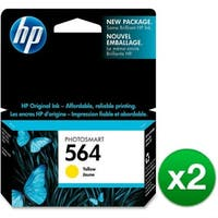 HP 564 Yellow Original Ink Cartridge (CB320WN)(2-Pack)