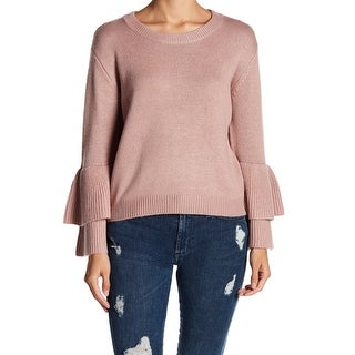 14th & Union Blush Womens Tiered Sleeve Knitted Sweater