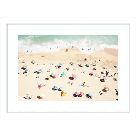Seaside 1 (Beach) by Carina Okula Framed Wall Art Print