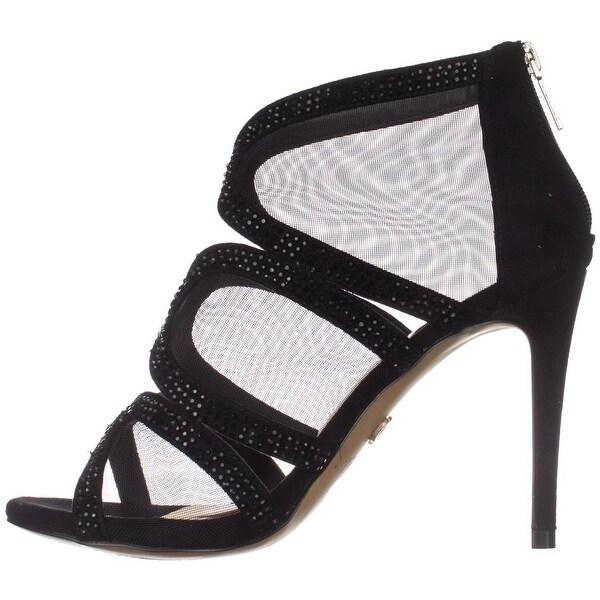 Thalia Sodi Womens Fabiaa Fabric Open Toe Special Occasion Ankle Strap Sandals