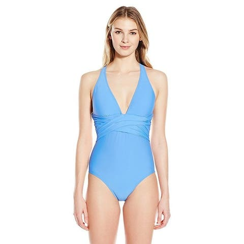 ATHENA Women's Cabana Solids Cross Back One Piece SZ 12
