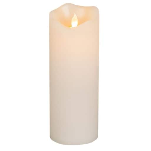 "Gerson 42541 Flameless Pillar Candle Ivory, 3"" x 8"" - Ivory"