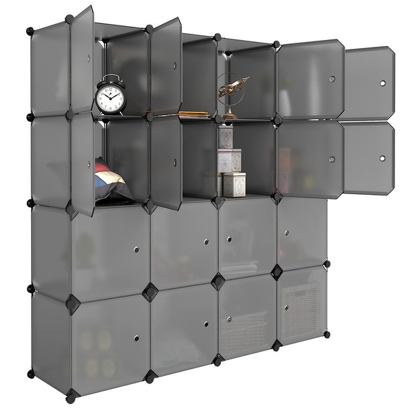 Shop Langria 16 Cube Modular Closet Storage Organizer Wardrobe With