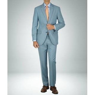 Link to Carlo Studio Shark Skin Light Blue Modern-Fit Suit Similar Items in Suits & Suit Separates