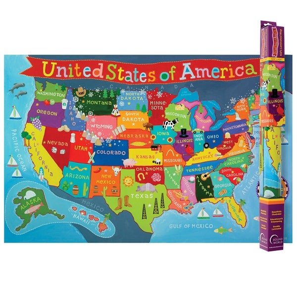 Shop United States Map For Kids - Free Shipping On Orders Over $45 ...