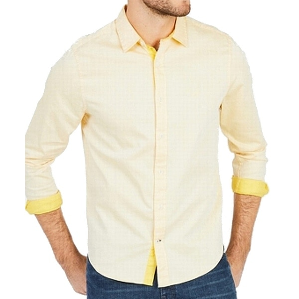 744b5fa3e Shop Nautica Yellow Mens Size XL Slim Fit Stretch Button Down Shirt - Free  Shipping On Orders Over $45 - Overstock - 26899343