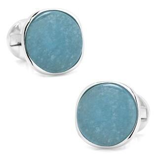 Sterling Aquamarine Cufflinks
