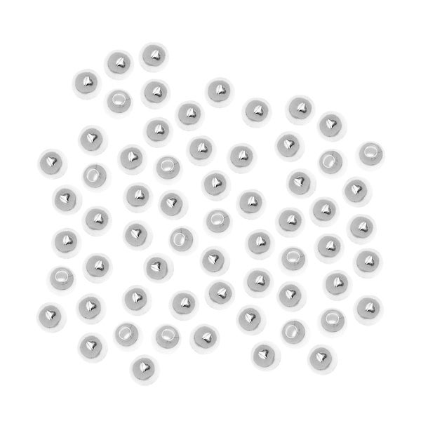 Silver Plated Round Beads 2.5mm (1000)