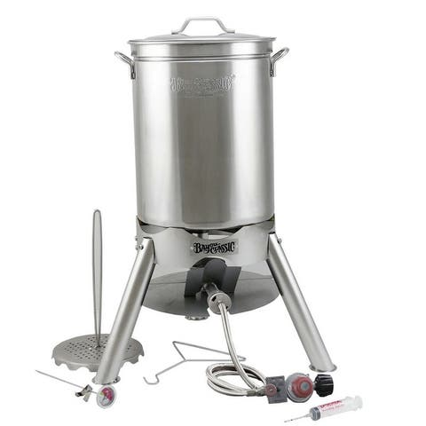 Bayou Classic® 44-qt Stainless Turkey Fryer Kit with Cooker