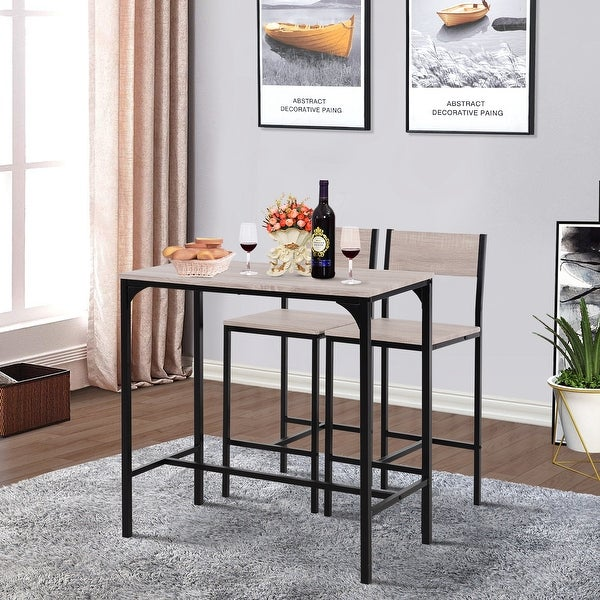 Carbon Loft Padrad Industrial Counter Height 3-piece Dining Set. Opens flyout.