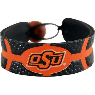 Oklahoma State Cowboys Team Color NCAA Gamewear Leather Basketball Bracelet
