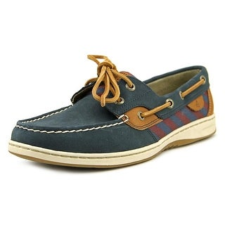 Sperry Top Sider Bluefish Tie Stripe Moc Toe Leather Boat Shoe