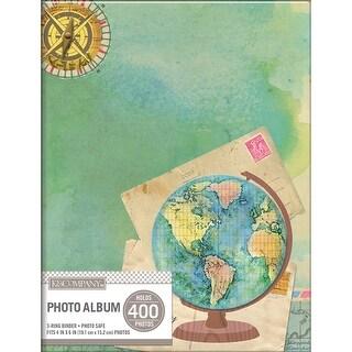 "K&Company 2-Up Binder Photo Album 8.25""X11""-Travel Map"