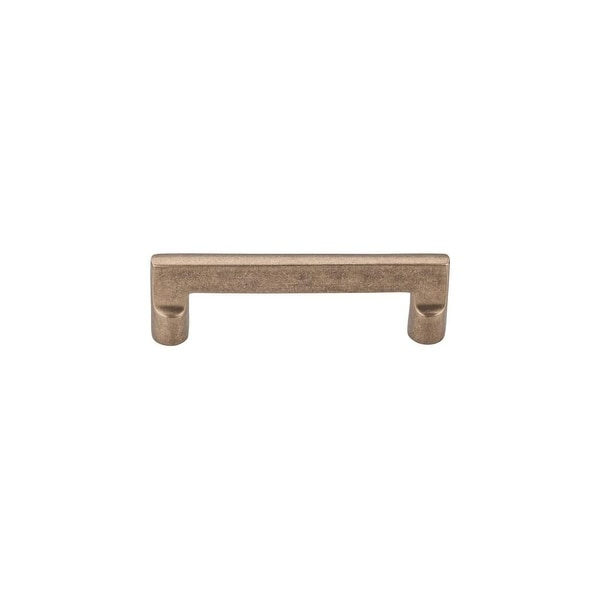 """Top Knobs M1361 Flat 4"""" Center to Center Handle Cabinet Pull from the Aspen Series - light bronze"""
