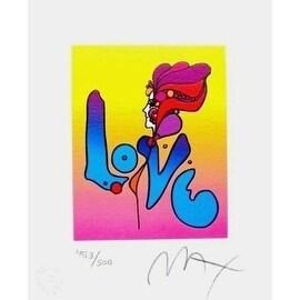 "Love I, Ltd Ed Lithograph (Mini 6"" x 5""), Peter Max"
