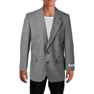 Bert Pulitzer Mens Gary Wool Blend Breathable Two-Button Suit Jacket - 40R