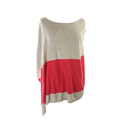 Inc International Concepts Beige Colorblocked Poncho Sweater L-XL