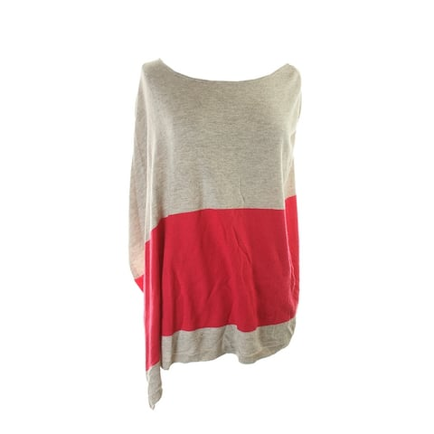 Inc International Concepts Beige Colorblocked Poncho Sweater S-M