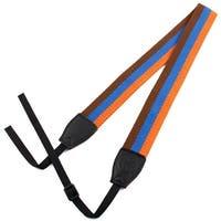SHETU Authorized Camera Anti-slip Shoulder Strap Belt Orange Blue for DSLR SLR