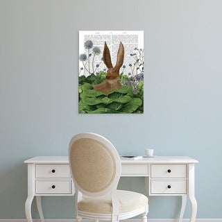 Easy Art Prints Fab Funky's 'Cabbage Patch Rabbit 5' Premium Canvas Art
