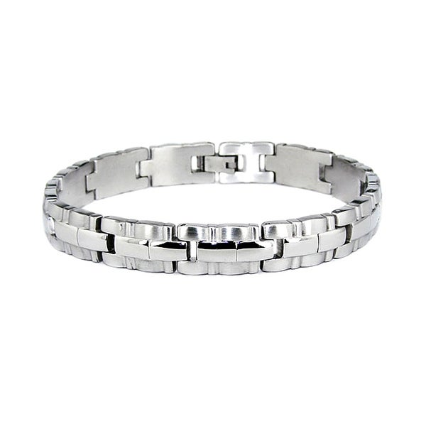 Stainless Steel Link Bracelet (10mm) 8.25 Inches