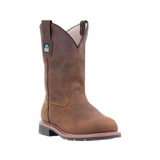 McRae Industrial Work Boots Mens Oil Resistant Teakwood MR85184