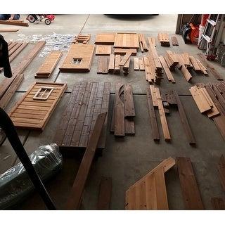 "Backyard Discovery Mount Triumph All Cedar Swingset - 15'8""w x 15'3""d x 9'11""h/15'3 x 15'6 x 9'9"