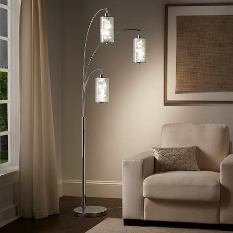 Aries Chrome 3-Light Star Tree Accent Floor Lamp by iNSPIRE Q Bold