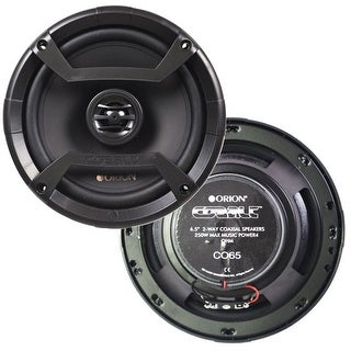 "Orion CO65 6.5"" 2-Way Cobalt Series Coaxial Car Audio Speaker"