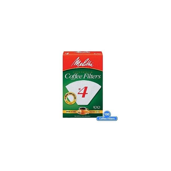 Melitta 624102 #4 White Cone Coffee Filters 100 Counts (Single-Pack) White Cone Coffee Filters 100 Counts