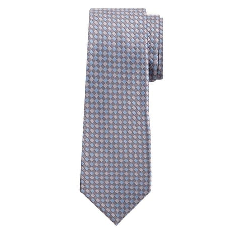 Marquis Men's Blue And Gray Checkered 3 1/4 Tie & Hanky Set TH100-009 - Regular